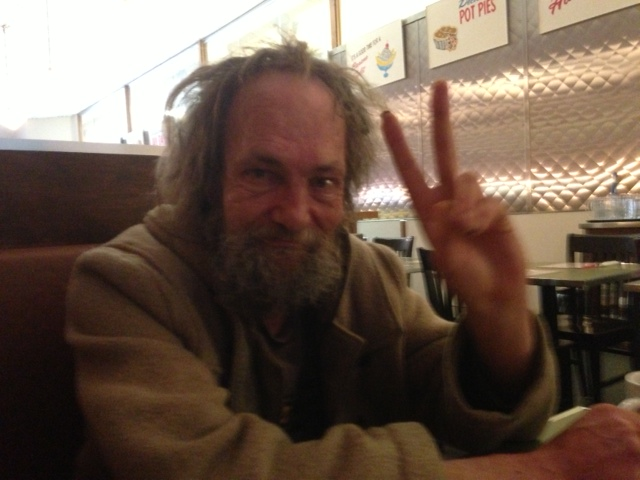 Homeless Man Happy A glimmer for homeless manHappy Homeless Man